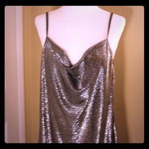 61babf85 Zara Dresses | Silver Sequin Slip Dress | Poshmark